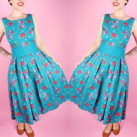 Lindy Bop Dresses & Skirts - Lindy Bop Vintage Inspired Floral Dress
